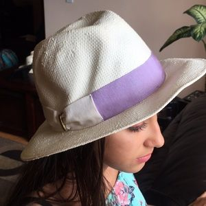 Aqua Fedora 100% paper hat in white